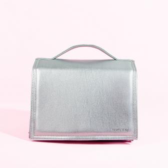 LE Mary Kay® Roll-Up Bag 2 Pockets Silver (unfilled)